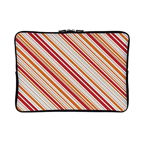 DKISEE Abstract Striped 02 Neoprene Laptop Sleeve Case Waterproof Sleeve Case Cover Bag for MacBook/Notebook/Ultrabook/Chromebooks