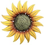 "outside wall decor Collectible Badges Metal Decorative 14"" Sunflower Wall Plaque"