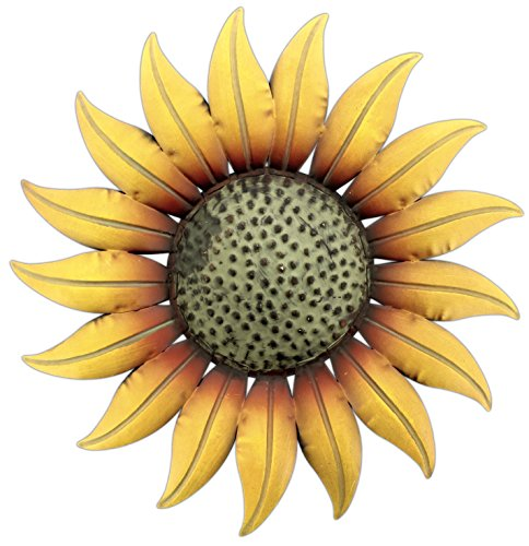 metal decorative 14 sunflower wall plaque buy online in uae kitchen products in the uae. Black Bedroom Furniture Sets. Home Design Ideas