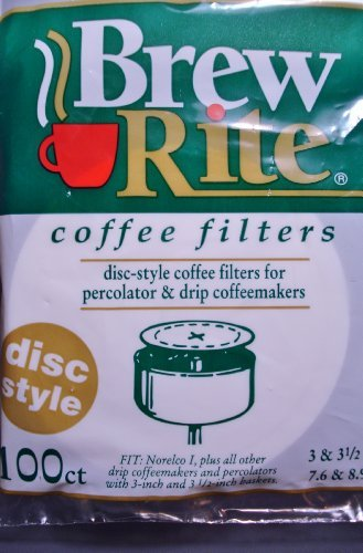 Brew Rite Disc Coffee Filter 100 Ct. ()