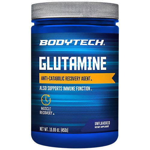 BodyTech Glutamine Freeform Amino Acid 4500 MG AntiCatabolic Recovery Agent, Unflavored 16 Ounce Powder