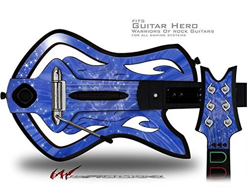 (Stardust Blue Decal Style Skin - fits Warriors Of Rock Guitar Hero Guitar (GUITAR NOT INCLUDED) by WraptorSkinz)