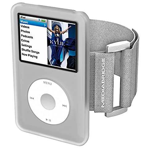 Mediabridge Armband for iPod Classic - 7th Generation (Clear) - Model AB1 - (Part# AB1-IPC7-CLEAR ) (Armband Music Player)