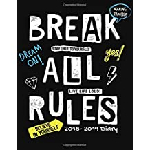 2018-2019 Diary: Black Quote Weekly & Monthly Schedule Planner   High School, College, University, Home, Organizer Calendar August 2018 To July 2019 Timetable