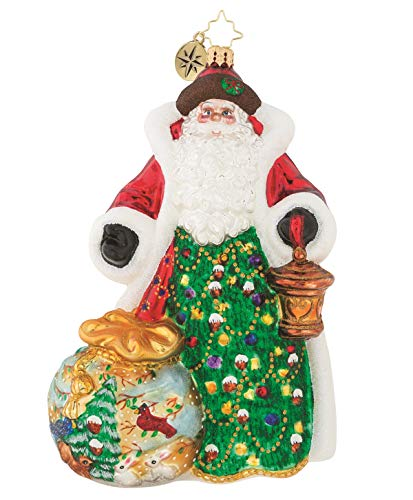 Christopher Radko A Gift of Nature Santa Glass Christmas Ornament - Limited Edition of 1,224 (Limited Edition Glass Ornament)