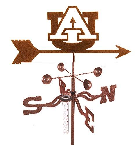 Auburn University Tigers Collegiate Rain Gauge Garden Stake Weathervane