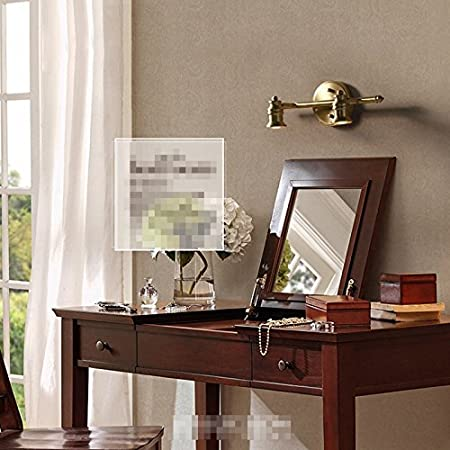 Color : White Light, Size : 3 MXueei Espejo de la l/ámpara American Luxury Copper Bathroom Led Mirror Lamp Nordic Mirror Bathroom Toilet Lamp European Retro Copper Lamps