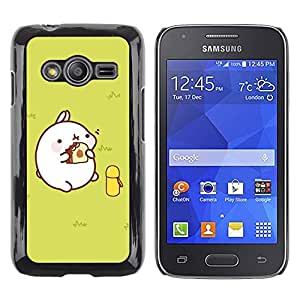 Paccase / SLIM PC / Aliminium Casa Carcasa Funda Case Cover - Cute Fat Pig - Samsung Galaxy Ace 4 G313 SM-G313F