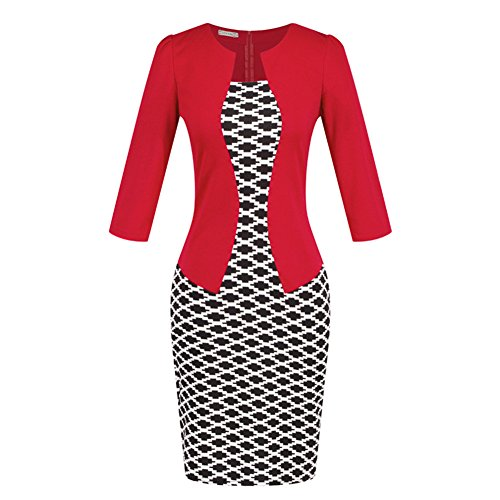 Womens Bodycon Printed Office Working