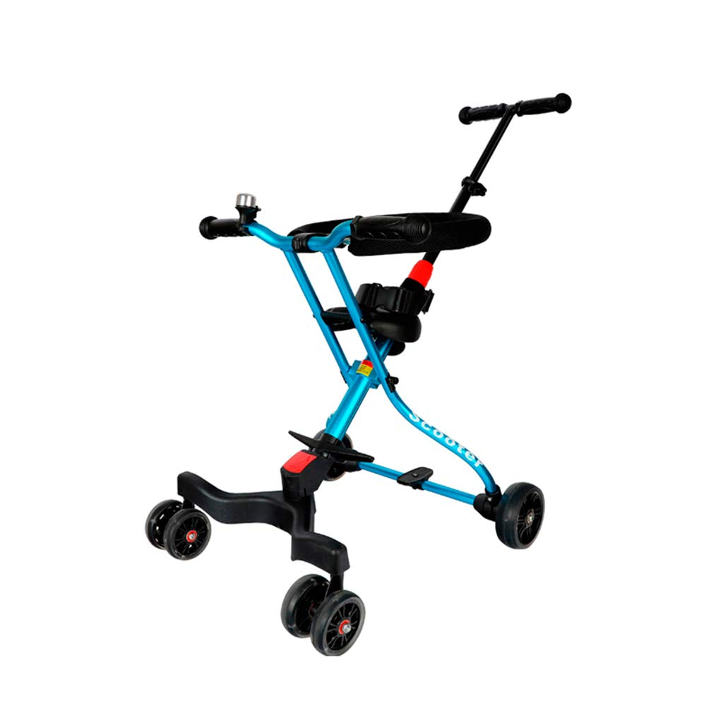 赤ちゃんの子供の四輪車の折り畳みアルミ合金シンプルなライトブルー - * (色 : B)  B B07H1B1XTF
