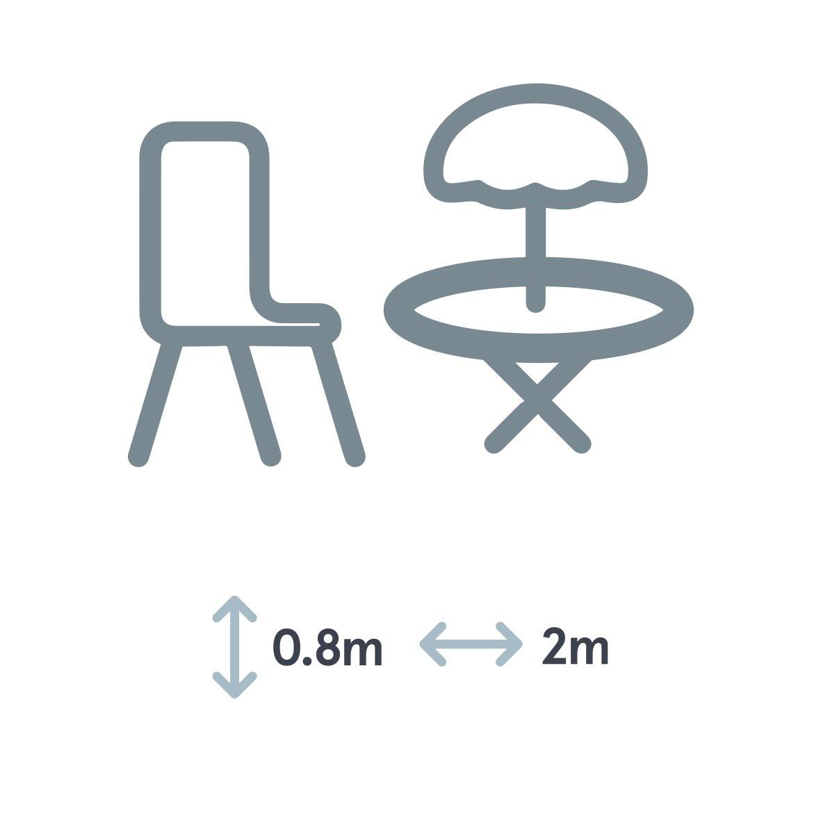 Gardman Telo di Copertura per Set Circolare da Giardino 2-4 Posti 80cm X 160cm Nero