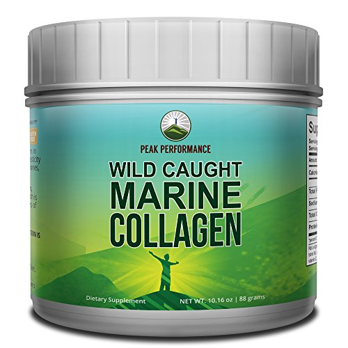 Highest Grade Marine Collagen Peptides/Protein Powder by Peak Performance. from Wild-Caught Snapper. Anti-Aging, Zero Carbs, Zero Sugar, Gluten & Dairy Free, Non GMO, Paleo and Keto. Unflavored