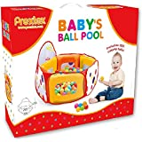 Kids Ball Pit Play Tent with 100 Colorful Crush-Free Pit Balls – Indoor & Outdoor Jumping Fun Playhouse Set Super Safe for Kids and Toddlers