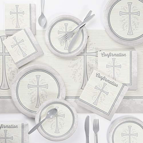 Divinity Silver Confirmation Party Supplies Kit, Serves 8]()