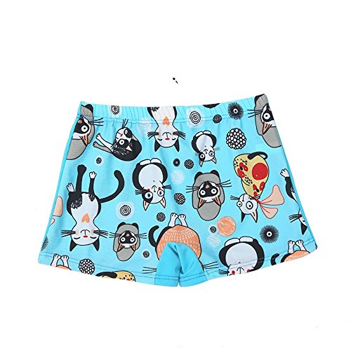 X-Large, Blue-Cat TEcell Kids Swimming Trunks Boys Swimming Trunks Cute Cartoon Boxer Swimming Pool Boys Swimwear Swimsuit
