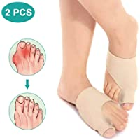 Gel Bunion Corrector with Pad, 1 Pair Toe Straightener Big Toe Separator Protectors for Hallux Valgus Pain Relief, Hammertoe Strength Day and Night Time