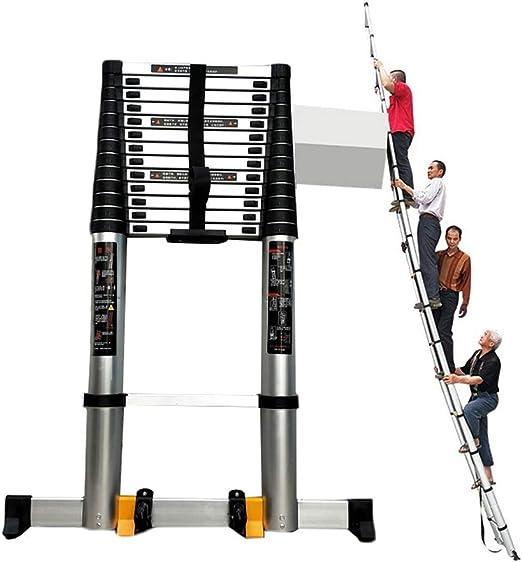 HYDT Escaleras Telescópicas Multifunción Escalera telescópica Extra Alta de 8 m / 26,24 pies con Barra estabilizadora, Escalera portátil de ingeniería de Aluminio para Mantenimiento de Edificios DIY: Amazon.es: Hogar