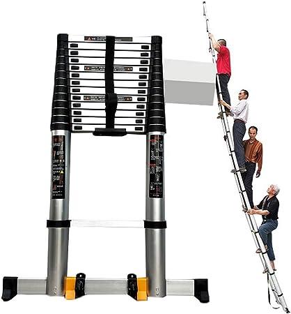 HYDT Escaleras Telescópicas Multifunción Escalera telescópica de Aluminio Extra Alta para Negocios de techado, Escalera de ingeniería Ligera de 7 m / 22,96 pies con Barra estabilizadora: Amazon.es: Hogar