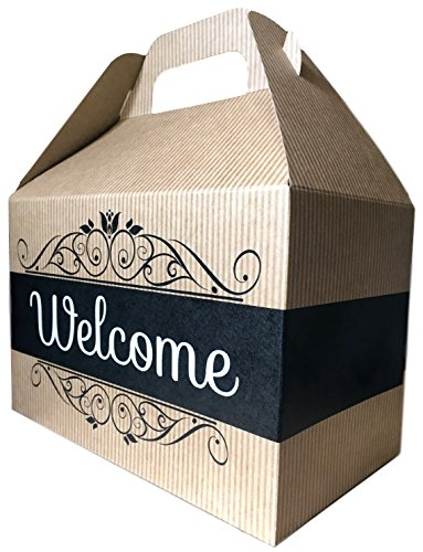 Welcome Cookies Care Package features classic Kraft Gift Box with Welcome graphic, stuffed with cookies, the perfect welcome (Home Gift Box)