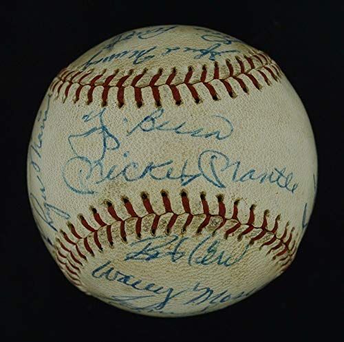 Incredible 1961 WSC Yankees Team Signed OAL Ball Mickey Mantle & Roger Maris - PSA/DNA Certified - Autographed Baseballs