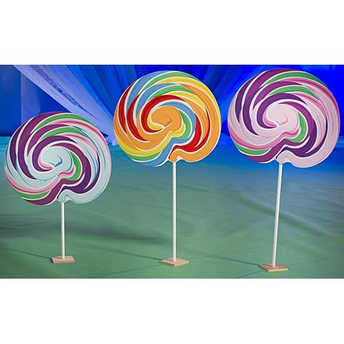 Sweet Lollipop Candy Cutout Set of 3 Standup Photo Booth Prop Background Backdrop Party Decoration Decor Scene Setter Cardboard Cutout]()