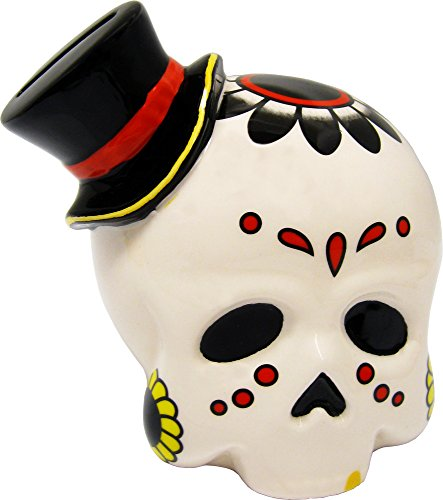 Bone Colored Sugar Skull Bank from Sourpuss -