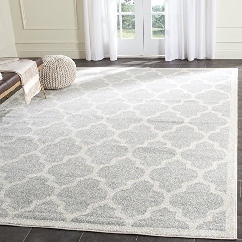 Safavieh AMT420B-9 Amherst Collection Area Rug, 9' x 12', Light Grey/Beige ()