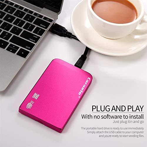 [Mollikar] Mobile Hard Disk,H-6 HDD 500GB Metal Case USB 3.0 Laptop Mobile Hard Drive for Windows System ()
