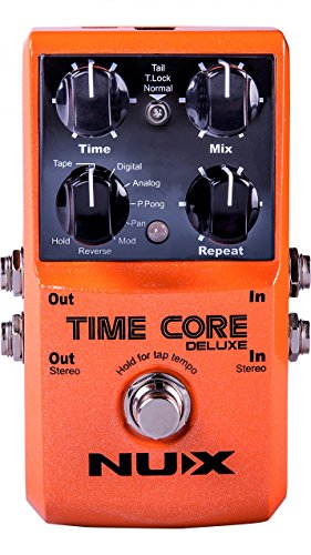 NUX Time Core Deluxe Delay Guitar Effect Pedal 7 Delay types Looper Tone lock, True Bypass
