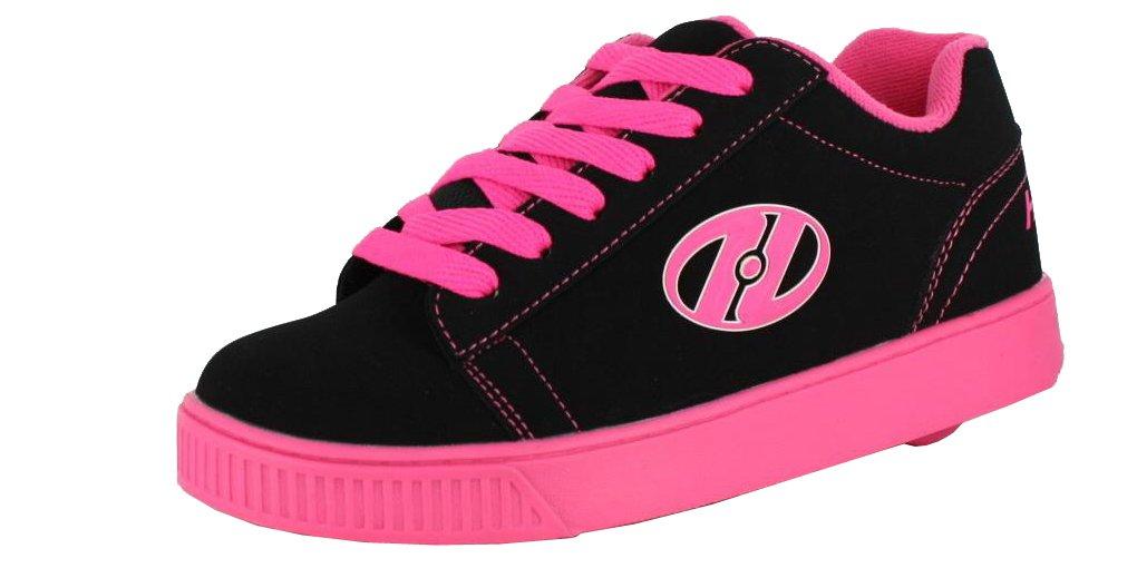 Heelys Straight Up Skate Shoe (Toddler/Little Kid/Big Kid), Black/Pink, 6 M US Big Kid