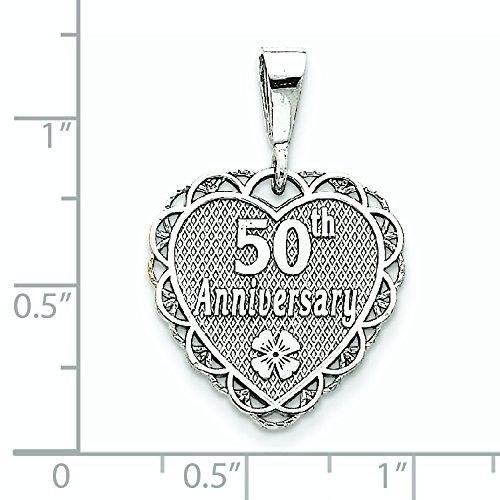 Or blanc 14 carats serti-réversible-JewelryWeb 50e anniversaire