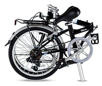 "Ford by Dahon Taurus 2.0 7-Speed Folding Bicycle, Black, 11"" x 20"""