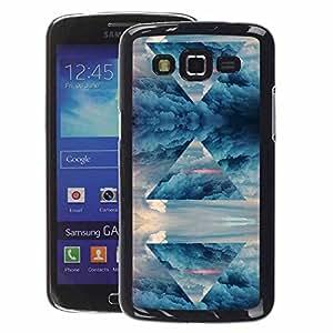 A-type Arte & diseño plástico duro Fundas Cover Cubre Hard Case Cover para Samsung Galaxy Grand 2 (Pyramid Art Sky Symbol Universe Magic)