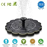 Solar Fountain, 2018 Upgraded Solar Powered Fountain Pump, Solar Water Fountain with Level Automatic Monitoring & Filter Impurities, Ideal for for Pond, Birdbath, Pool, Patio, Garden Decoration