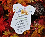 Set of 10 Winnie the Pooh Baby Shower Invitations - All Wording Customized - For Boy or Girl Baby Shower
