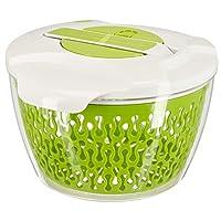 Culinato® Salatschleuder in grün/weiß mit innovativem Schleudermechanismus (6...