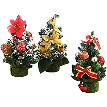 mini artificial christmas tree best choice christmas decoration for table and desk tops small christmas tree perfect for your home office 3pack