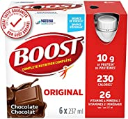 BOOST Original Meal Replacement Drink, Chocolate, 24 x 237 ml - PACKAGING MAY VARY