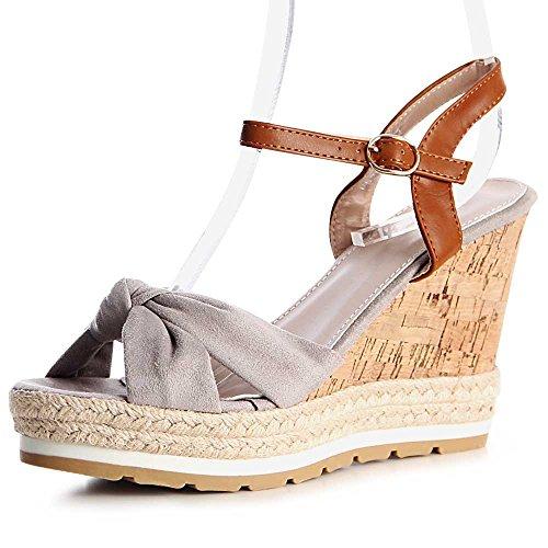 topschuhe24 - Sandalias de vestir para mujer gris