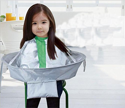 Hair Cutting Umbrella, Adult children waterproof haircut, hairdressing Hair Apron, Haircut Cape, Hairdressing Gown Family by FANVERIM (Image #4)