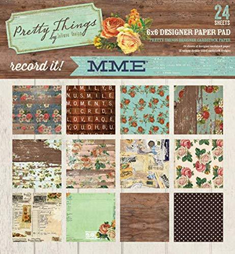 My Mind's Eye 6 x 6 Paper Pad, Pretty Things
