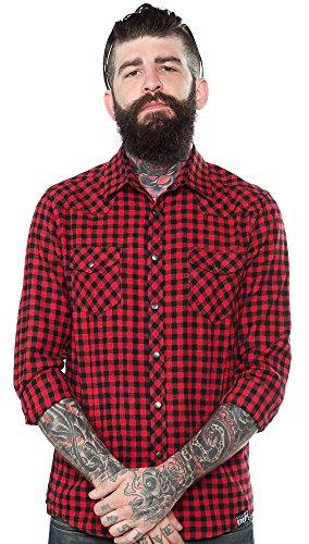 Kustom-Kreeps-Western-Shirt-Red