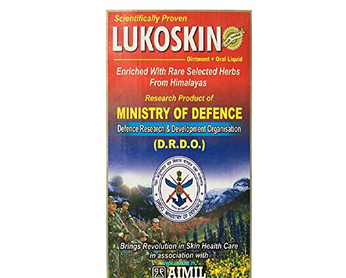 Aimil Lukoskin Ointment and Liquid Combo - Ointment 40 GMS + Oral Liquid 100 ml (Best Ayurvedic Medicine For Vitiligo)