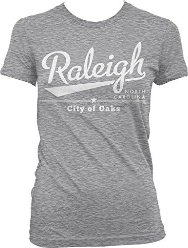 Raleigh  North Carolina  City Of Oaks Juniors T Shirt  Nofo Clothing Co  S Ltgray