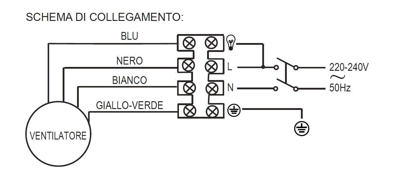 4 Pale Reversibile 3 velocit/à Comando a Cordicella Noce//Paglia di Vienna Diametro 107 Cm Ardes AR5A107D Ventilatore da Soffitto con Luce
