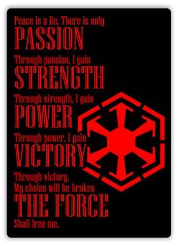LOUIS Sith Oath Metal Wall Sign Plaque Art Inspirational - 8x12 inch ()