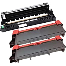 3PK-2 Inkfirst® High Yield Toner Cartridges + 1 Drum Unit TN-660 DR-630 Compatible Remanufactured for Brother TN-660 DR-630 (2 toner + 1 drum) DCP-L2520DW DCP-L2540DW MFC-L2700DW MFC-L2720DW MFC-L2740DW HL-L2300D HL-L2305W HL-L2320D HL-L2340DW