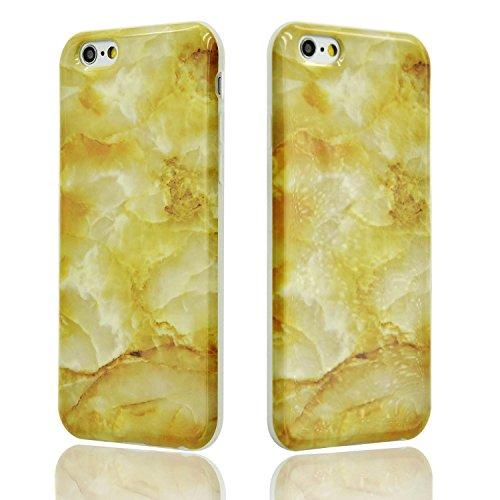 Funda para iPhone 6 Sunroyal Premium Mármol Patrón Suave TPU Carcasa Protector Bumper Tapa Flexible Silicona Gel Ultra Delgado Case Cover Parachoques Cubierta Caja del Teléfono para iPhone 6s / 6 4.7 A-30