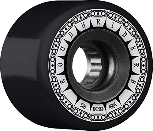Bones Rough Riders Tank 59mm 80A - Black (Best Skateboard Wheels For Rough Roads)