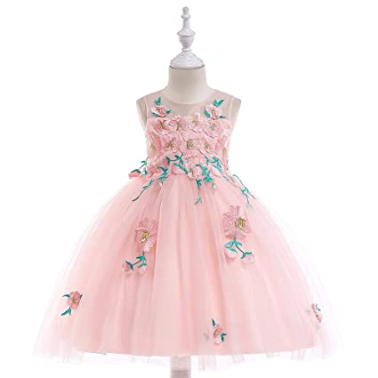 Amazon Com Qinjli Children Dress Princess Dress Girls Wedding